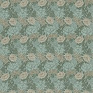 William Morris & Co Tyg Chrysanthemum Green/Biscuit