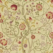 William Morris & Co Tyg Mary Isobel Red/Gold