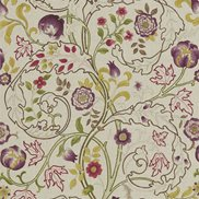 William Morris & Co Tyg Mary Isobel Wine/Linen