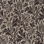William Morris & Co Tyg Thistle Linen/Black