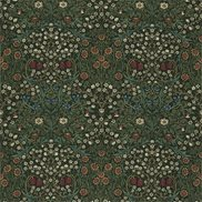 William Morris & Co Tyg Blackthorn Green