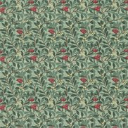 William Morris & Co Tyg Arbutus Dark Green