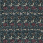 William Morris & Co Tyg Bird & Anemone Forest/Indigo