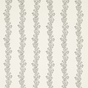 Sanderson Tyg Sparkle Coral Embroidery Jet/Ivory