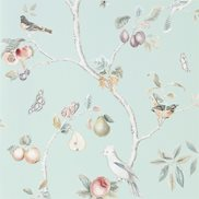 Sanderson Tapet Fruit Aviary Duck egg/Multi