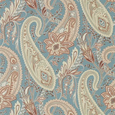Sanderson Tapet Cashmere Paisley Teal/Spice