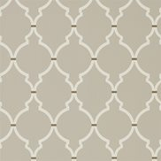 Sanderson Tapet Empire Trellis Birch/Cream