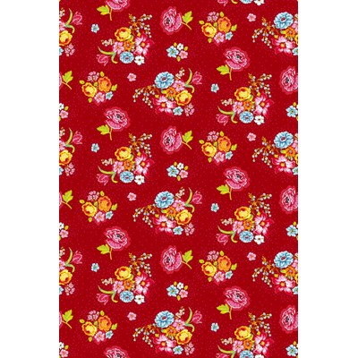PiP Studio Tapet/ Väggbild Bunch of Flowers Red