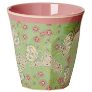 Rice Mugg Butterfly & Flower Medium