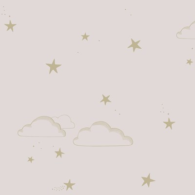 Hibou Home Tapet Starry Sky Pale Rose/Gold
