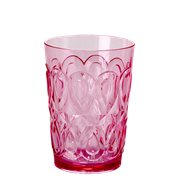 Rice Glas Swirly Pink