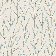 Intrade Tapet Catkins White/Blue/Teal