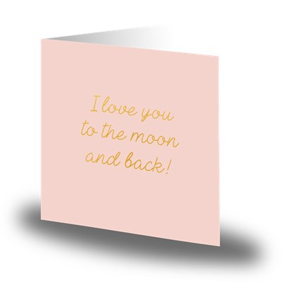 Cards by Jojo Kort I love you to the moon and back Rosa