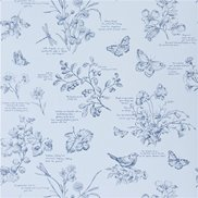 Ralph Lauren Tapet Nature Study Toile Bluebell