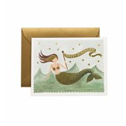Rifle paper co Kort Vintage mermaid