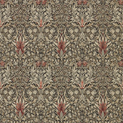 William Morris & Co Tapet Snakeshead Charcoal/Spice