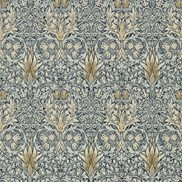 William Morris & Co Tapet Snakeshead Indigo/Cumin