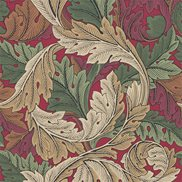 William Morris & Co Tapet Acanthus Madder/Thyme