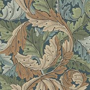 William Morris & Co Tapet Acanthus Slate Blue/Thyme