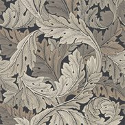 William Morris & Co Tapet Acanthus Charcoal/Grey