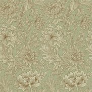 William Morris & Co Tapet Chrsyanthemum Toile Eggshell/Gold