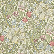 William Morris & Co Tapet Golden Lily Green/Red