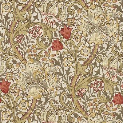 William Morris & Co Tapet Golden Lily Biscuit/Brick