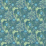 William Morris & Co Tapet Morris Seaweed Cobalt/Thyme