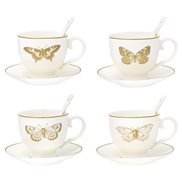 GreenGate Kopp med fat Butterfly Gold 4 st