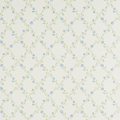Sanderson Tapet Forget Me Not Ivory/China Blue