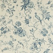 Sanderson Tapet Pillemont Toile Ivory/China Blue