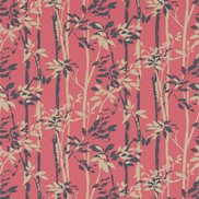 Sanderson Tapet Beechgrove Red/Gold