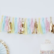 Ginger Ray Girlang Tassels Pastel & Gold