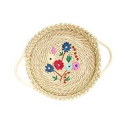 Rice Brödkorg Flower Embroidery
