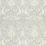 William Morris & Co Tapet Pure Dove and Rose Cloud Grey