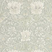 William Morris & Co Tapet Pure Honeysuckle & Tulip Grey Blue