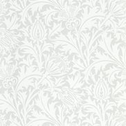 William Morris & Co Tapet Pure Thistle Grey Blue