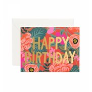 Rifle paper co Kort Happy Birthday Poppy