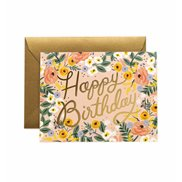 Rifle paper co Kort Birthday Rosé
