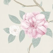 Sanderson Tapet Christabel Rose/Pewter