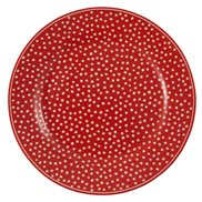 GreenGate Tallrik Dot Red 20,5 cm