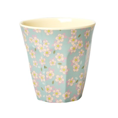 Rice Mugg Small Flower Blue Medium