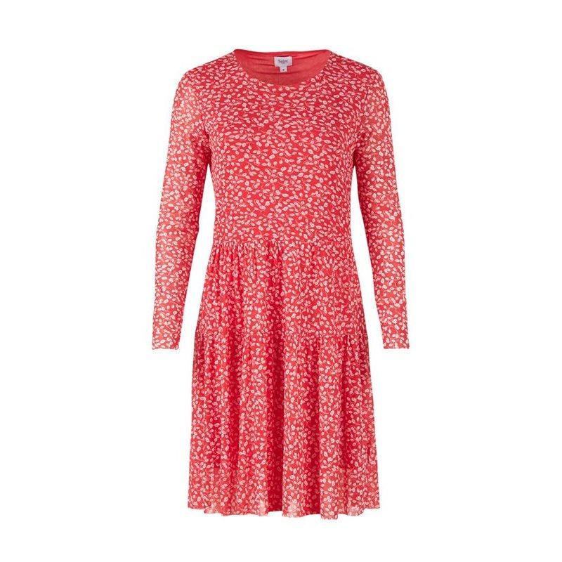 Klänning Röd med lövprint