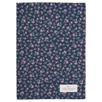 GreenGate Handduk Berta Dark blue