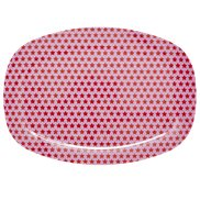 Rice Tallrik Oval Star Pink