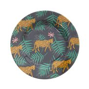 Rice Tallrik Leopard & Leaves 20 cm