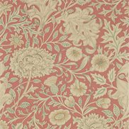 William Morris & Co Tapet Double Bough Carmine Red