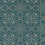 William Morris & Co Tapet Brophy Trellis Deep Teal