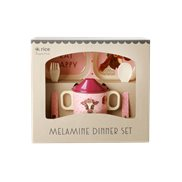 Rice Presentkit Melamin Farm Animals Pink