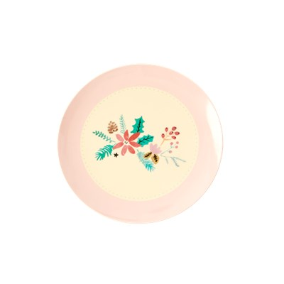 Rice Tallrik Christmas flower 16.5 cm